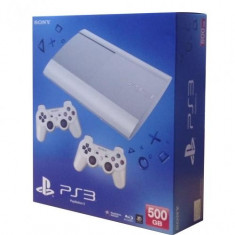 Consola PlayStation 3 Sony Ultra Slim 500 GB White + 2 controllere