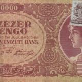 UNGARIA 10.000 pengo 1945 cu timbru VF+++!!! - bancnota europa