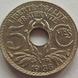 Moneda istorica 5 Centimes - FRANTA, anul 1938 *cod 4177 a.UNC