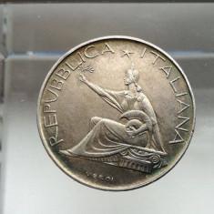 500 lire 1861 - 1961 Italia moneda argint numismatica bani vechi monezi monede, Europa