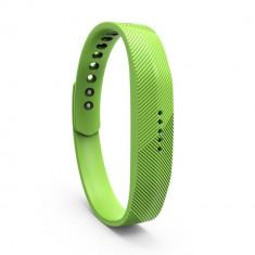 Bratara de rezerva din silicon pentru Fitbit Flex 2, verde - Bratara silicon