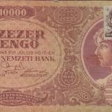 UNGARIA 10.000 pengo 1945 cu timbru VF+!!! - bancnota europa