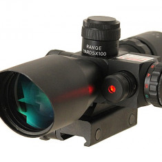 Luneta 2.5-10X40 cu punctator laser ACM
