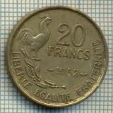 9131 MONEDA- FRANTA - 20 FRANCS -anul 1952 - starea ce se vede, Europa