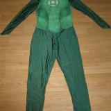 Costum carnaval serbare green lantern pentru adulti marime M - Costum Halloween, Marime: Masura unica, Culoare: Din imagine