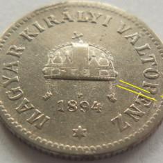 Moneda istorica 10 Filler - AUSTRO-UNGARIA, anul 1894 *cod 4153 MATRITA SPARTA