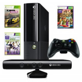 Consola Xbox 360 4GB + Kinect Sensor + 3 jocuri ( Forza Horizon, Kinect Sports Season 1, Kinect Adventures)