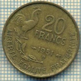 9134 MONEDA- FRANTA - 20 FRANCS -anul 1951 B - starea ce se vede, Europa