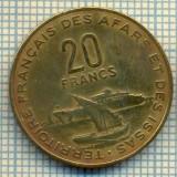 9143 MONEDA- FRANTA(TERITORII...) - 20 FRANCS -anul 1975 - starea ce se vede, Europa