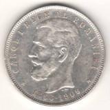 SV * Romania 5 LEI 1906 Carol I <40 Ani de la Incoronare> ARGINT .835 - Moneda Romania