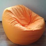 Puf portocaliu, fotoliu cu husa detasabila, fotolii din material textil - Fotoliu living