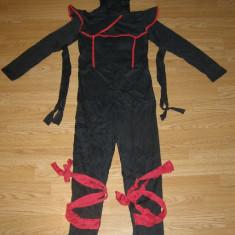 Costum carnaval serbare ninja pentru copii de 9-10 ani, Marime: Masura unica, Culoare: Din imagine