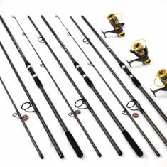 KIT 3lansete FINOCARP 3, 3m, 3mulinete KT500 baitrunner 6 rulmenti si rodpod full - Set pescuit