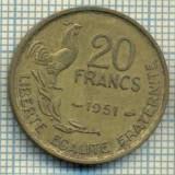 9137 MONEDA- FRANTA - 20 FRANCS -anul 1951 - starea ce se vede, Europa