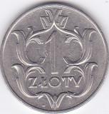 Moneda Polonia 1 Zlot 1929 - KM#14 XF, Europa
