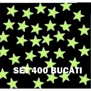 PROMOTIE! SET 400 STELUTE FOSFORESCENTE GLOW CE SE APRIND LA INTUNERIC,SUPER.