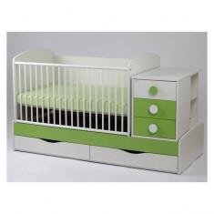 Patut Transformabil Silence Cu Leganare 5241 MyKids - Patut lemn pentru bebelusi