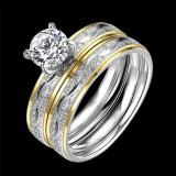 Inel din inox placat cu aur de 24k - Inel inox