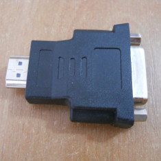 Mufa adaptor Convertor de la HDMI la DVI HDMI to DVI. - Adaptor interfata PC