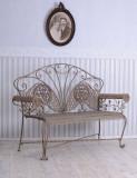 BANCA ART NOUVEAU DIN FIER FORJAT ANTICHIZAT WK006