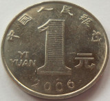 Moneda 1 Yi Yuan - CHINA, anul 2006 *cod 4136, Asia