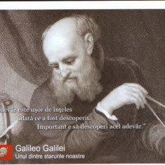 CP, necirculata - Personalitati ale omenirii - Galileo Galilei fizician, astronom - Carte postala tematica, Printata