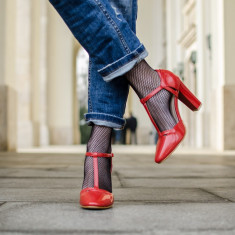 Sandale dama Fiona rosii