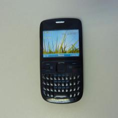 NOKIA c3 - tastatura qwerty, retea wireless - aplicatii social media - Telefon mobil Nokia C3, Negru, Neblocat