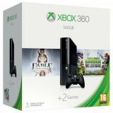 Consola Xbox 360 Microsoft 500GB + 2 jocuri ( Fable Anniversary, Plants vs. Zombies Garden Warfare) + 1 luna Xbox Live Gold