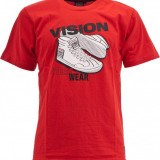 Tricou Vision Street Wear Sneaker Tee Red-L