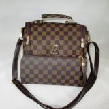 Set dama geanta si portofel LV Louis Vuitton+CADOU - Geanta Dama, Culoare: Din imagine, Marime: Medie