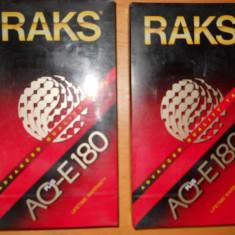 CASETE VIDEO VHS RAKS AQ-E180, NOI, SIGILATE - LOT 2 BUCATI