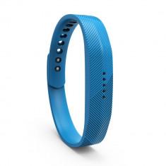 Bratara de rezerva din silicon pentru Fitbit Flex 2, albastru - Bratara silicon