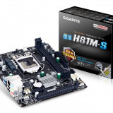 Placa de baza Gigabyte H81M-S, Socket 1150, Pentru INTEL, LGA 1150, DDR 3, MicroATX