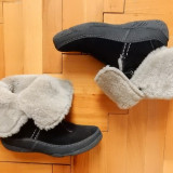 Cizme piele naturala Clarks, imblanite lana naturala; marime 40 (26.5 cm);ca noi