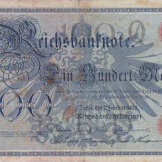 GERMANIA 100 marci 1908 VF!!! - bancnota europa