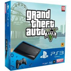 Consola SONY PS3 Super Slim 500 GB + joc Grand Theft Auto V PS3