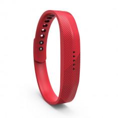 Bratara de rezerva din silicon pentru Fitbit Flex 2, rosu - Bratara silicon