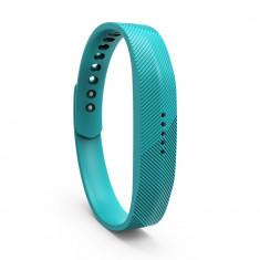 Bratara de rezerva din silicon pentru Fitbit Flex 2, turcoaz - Bratara silicon