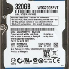 Hard disk laptop 320GB SATA 3Gb/sec WD3200BPVT - HDD laptop Western Digital, 300-499 GB, Rotatii: 5400, SATA2, 8 MB