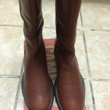 CAMPER cizme piele camel