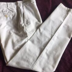 Pantaloni barbati PAUL & SHARK, mas. 50, Culoare: Alb, Lungi, Bumbac