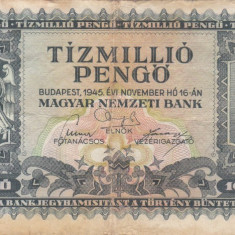 UNGARIA 10.000.000 pengo 1945 VF-!!! - bancnota europa