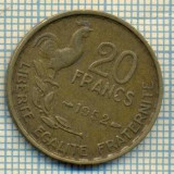 9123 MONEDA- FRANTA - 20 FRANCS -anul 1952 - starea ce se vede, Europa