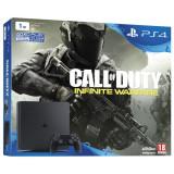Consola Playstation 4 SLIM 1TB negru + Joc Call of Duty: Infinite Warfare