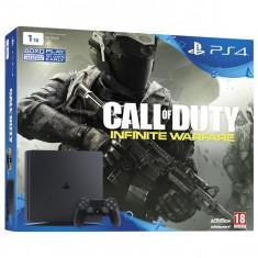 Consola PlayStation 4 Sony SLIM 1TB negru + Joc Call of Duty: Infinite Warfare