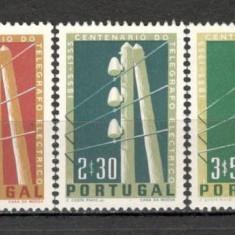 Portugalia.1955 100 ani telegraful SP.27 - Timbre straine, Nestampilat