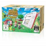 Consola Nintendo 2DS alb / rosu + joc Animal Crossing New Leaf