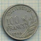 9299 MONEDA- FRANTA - 100 FRANCS -anul 1954 B -starea care se vede, Europa