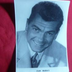 Fotografie a Actorului Jean Marais, dim.= 8, 5x11, 5 cm - Autograf
